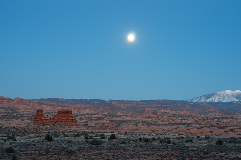 Moonrise at the Arches