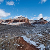 Buttes with snow