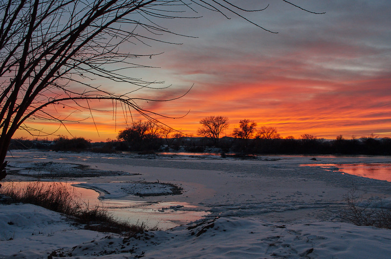 Sunset on the Green River