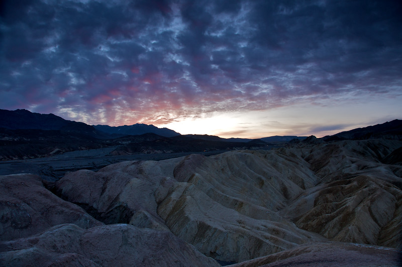 Dawn breaks at Zabriskie Point