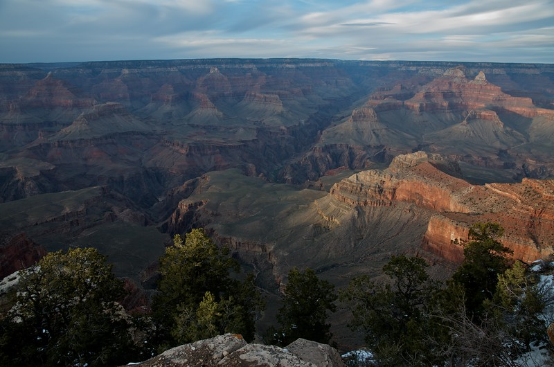 Mather Point, evening
