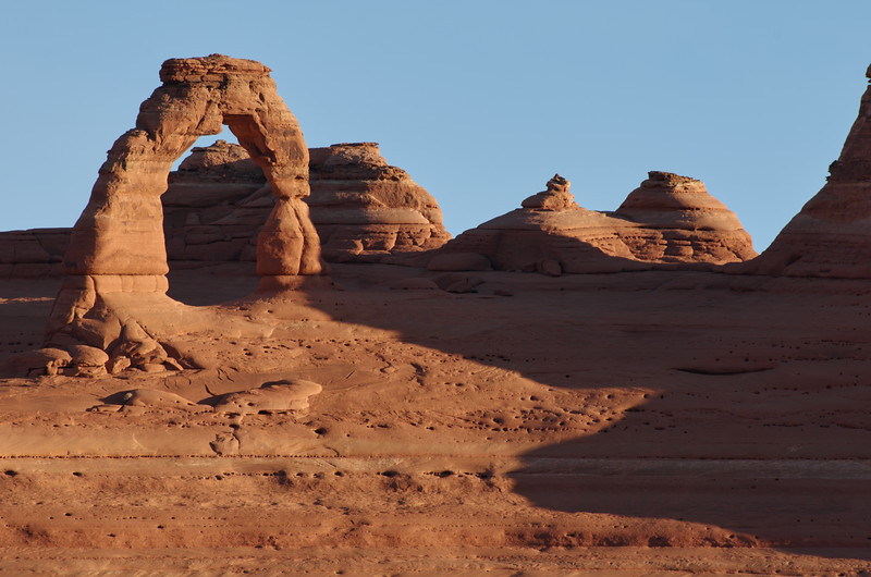 Delicate arch from the view point, first sun