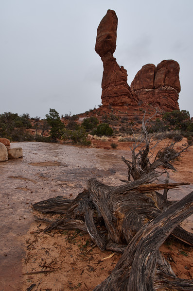 Balanced Rock, gray day