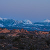 Twilight on the La Sal mountains