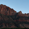 The Watchman, northwest face at twilight