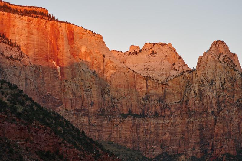 West Temple at Sunrise