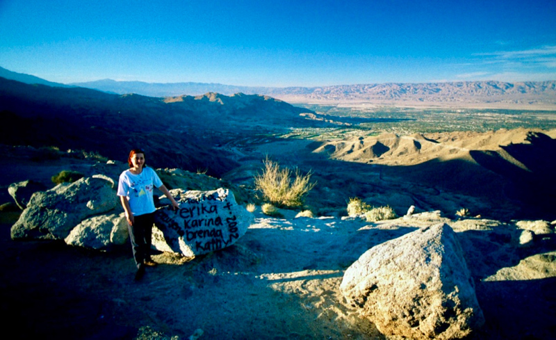 View to Palm Springs Valley, CA