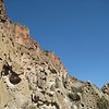 The Bandelier cliffs