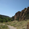 Bandelier cliff dwellings, Frijoles Canyon, looking NW