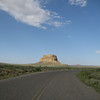 One entrance point to the Canyon (about 21 miles from Hwy 550) with Fajada Butte in the distance