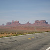 Highway 163 approaching Monument Valley