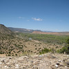 Looking north to hwy 84 and the Chama River from Poshuouinge, New Mexico - Tewa settlement, circa 1400-1500 AD