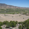 "Poshuouinge means ""village above the muddy river"" in Tewa. This site looking down on the Chama River is off hwy 84 in New Mexico. It was at its peak between 1400-1500 AD."