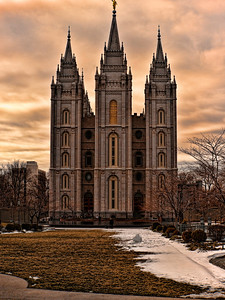 Some Big church in Salt Lake City