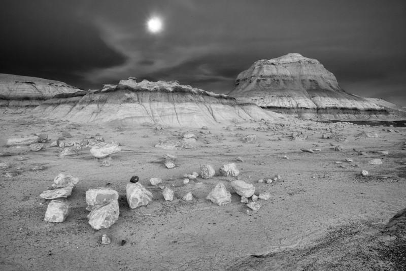 Evening at Bisti <br /> Bisti/De-Na-Zin Wilderness <br />  <br /> Farmington, New Mexico <br /> (5II2-15627)