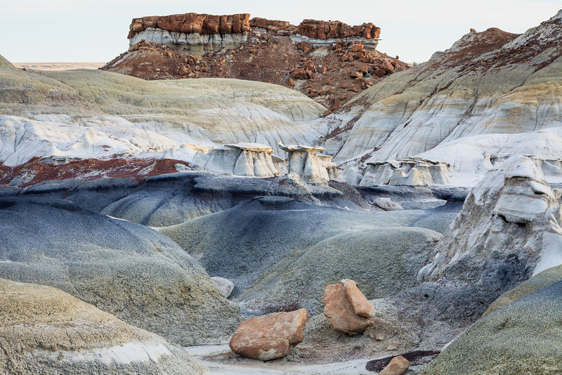 Two Rocks at Bisti <br /> Bisti/De-Na-Zin Wilderness <br />  <br /> Farmington, New Mexico <br /> (5II2-14153)