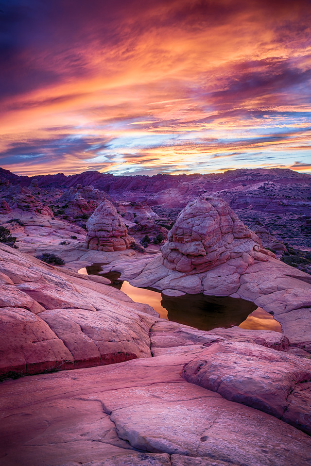 Sunset over South Coyote Buttes
