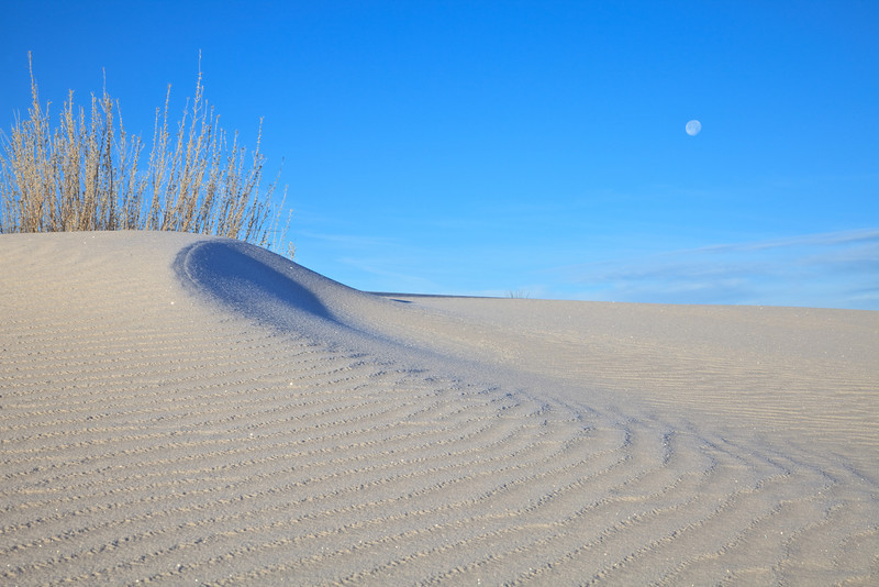 Sand and Moon <br /> <br /> White Sands National Monument <br /> Alamogordo, New Mexico <br /> (5II-11082)