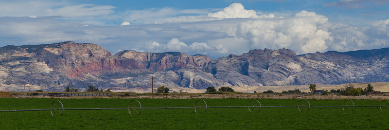 Dinosaur Cliffs Beyond Pasture