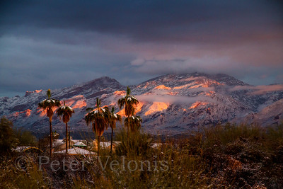Santa Catalina Mountains after winter snow.