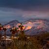 Santa Catalina Mountains after winter snow.
