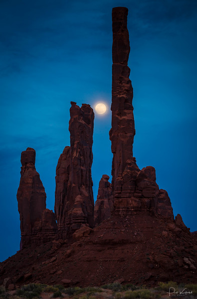 Totem Pole and Moon