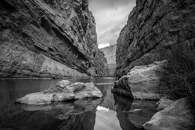 Santa Elana Canyon - B&W