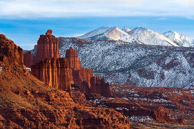 Fisher Towers/La Sal Mtns/Colorado River