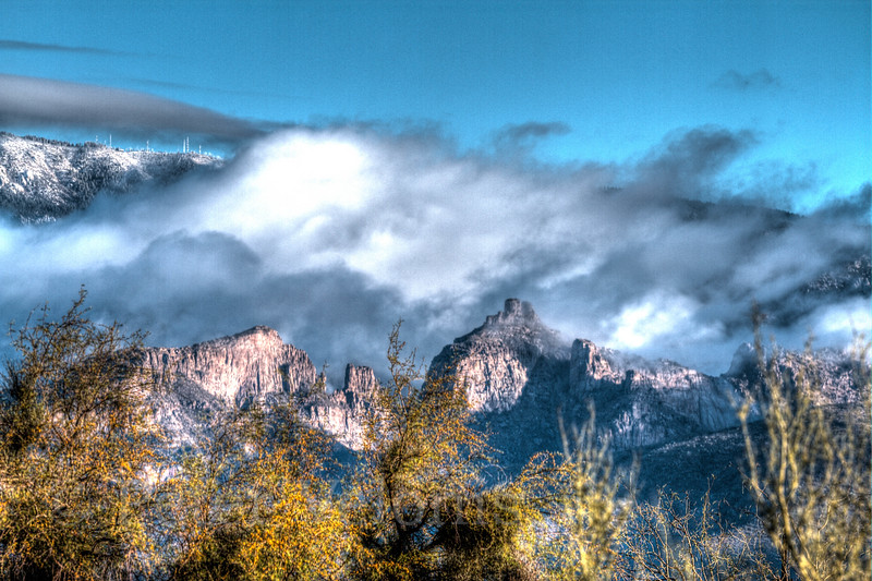 Snow in the Catalina Mts and Mt. Lemmon