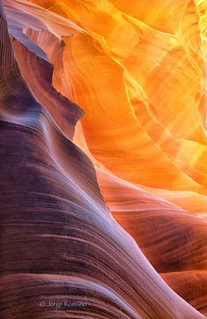Sandstone on fire