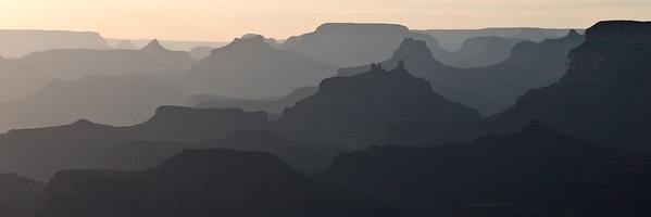 Grand Canyon South Rim - Canyon Shadows from Lipan Point