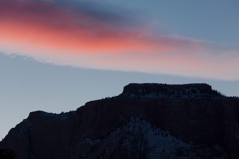 Last Light Cloud Plume, Zion NP