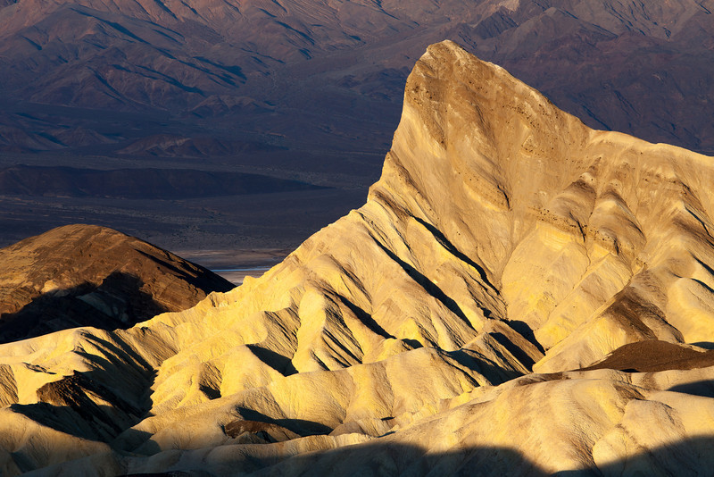 Sunrise Light on Manley Peak, Death Valley CA