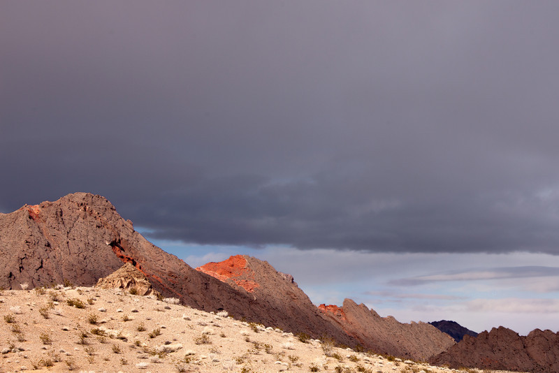 Desert Palette with Dark Clouds, Nevada