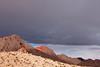 Desert Palette with Dark Clouds, Nevada