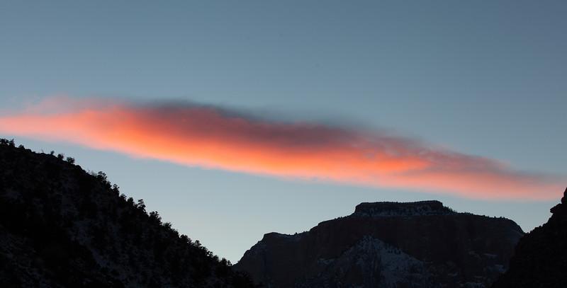 Last Light Cloud Plume II, Zion NP