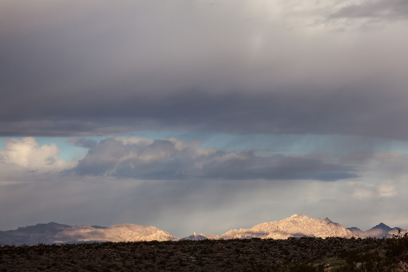 Spotlight on Mountains, Route 66, Arizona