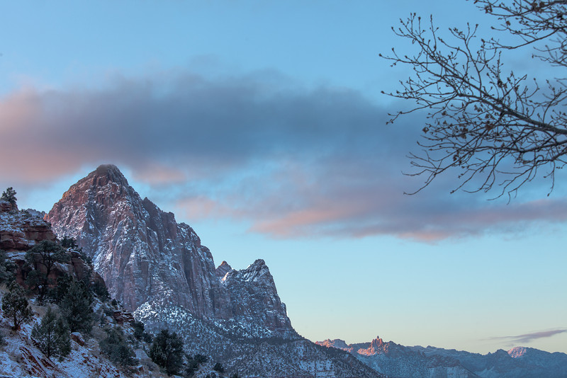 The Watchman in Winter, Zion NP