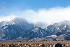 Rocks, Valley, Snowy Mountains, and Clouds, Eastern Sierras CA