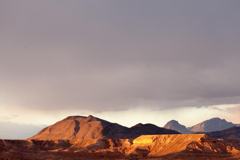 Dramatic Light on Mesa, Route 66, Arizona
