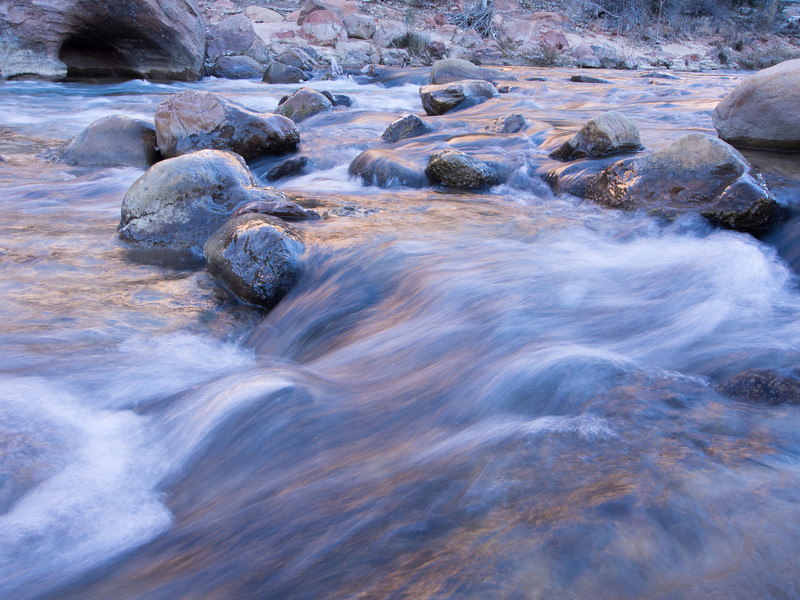 Virgin River in Morning, Zion NP