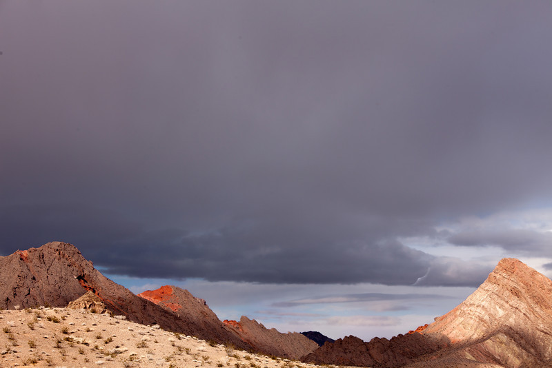 Desert Palette with Dark Clouds II, Nevada