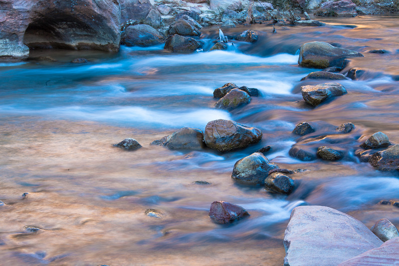 Virgin River with Morning Light Reflections, Zion NP