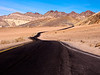 Curvy Road and Colorful Desert, Death Valley CA