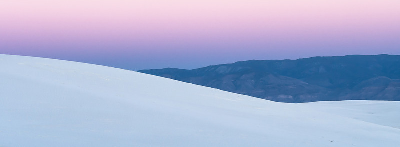 White Sand, Black Mountains, and Purple Sky, White Sands National Monument, NM