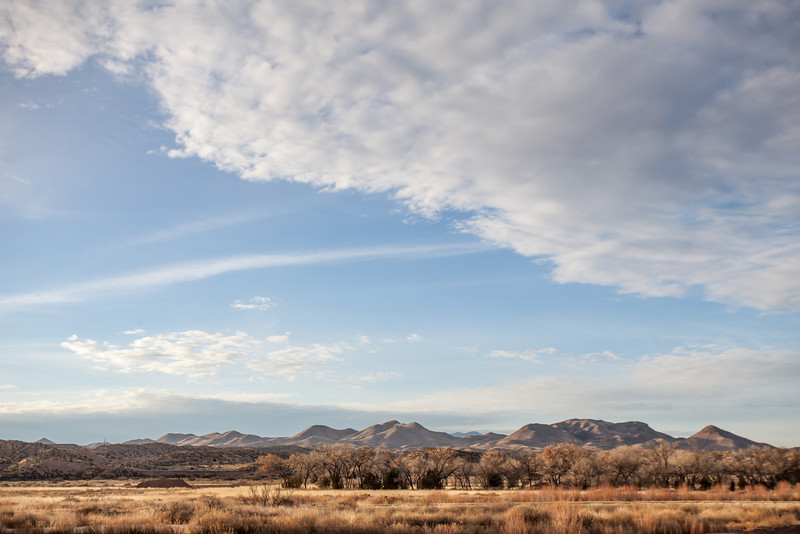 Mountains and Cloud, Bosque del Apache National Wildlife Refuge, NM
