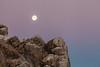 Setting Moon before Sunrise, Morro Bay CA