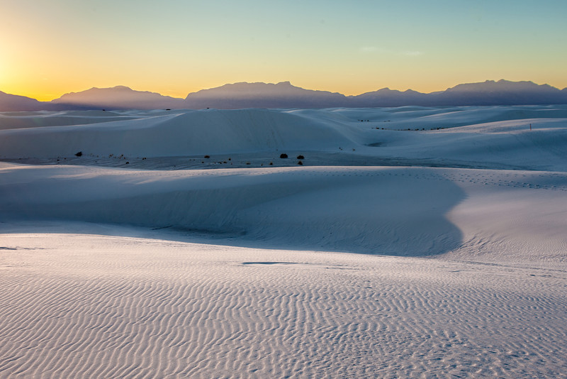 Sunset Landscape, White Sands National Monument, NM