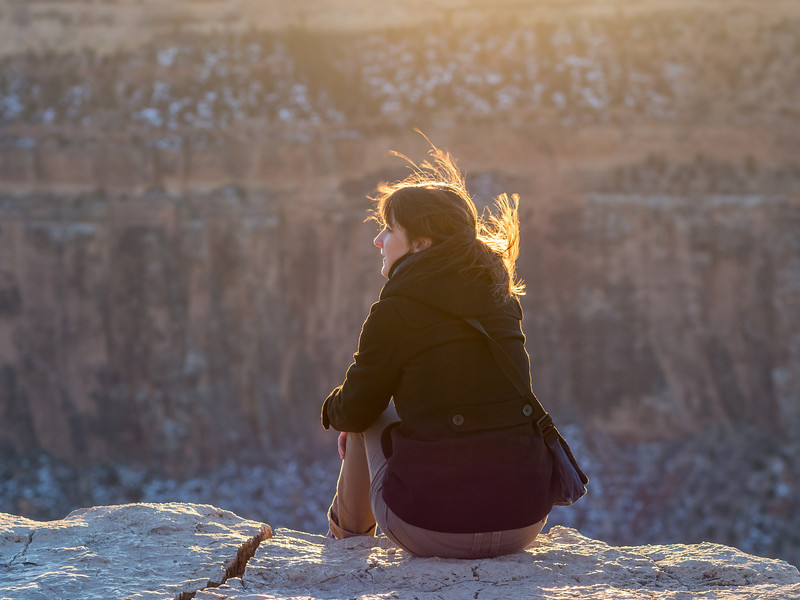 Rim Lit Portrait I, South Rim Grand Canyon AZ