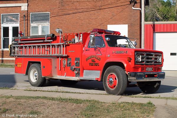 Engine 1-3 - 1984 GMC/FMC Pumper (#9148) - 1000gpm/1000gal